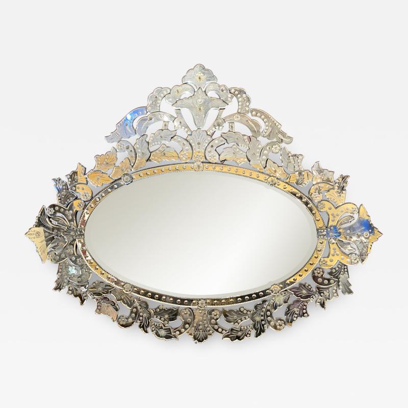 Large Mid Century Venetian Mirror