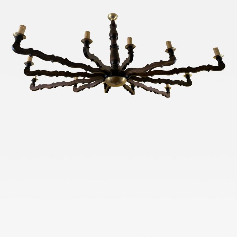 Large Oval Rustic Country Style Ceiling Light
