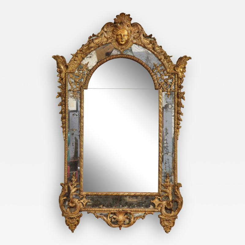 Large R gence Carved Giltwood Wall Mirror
