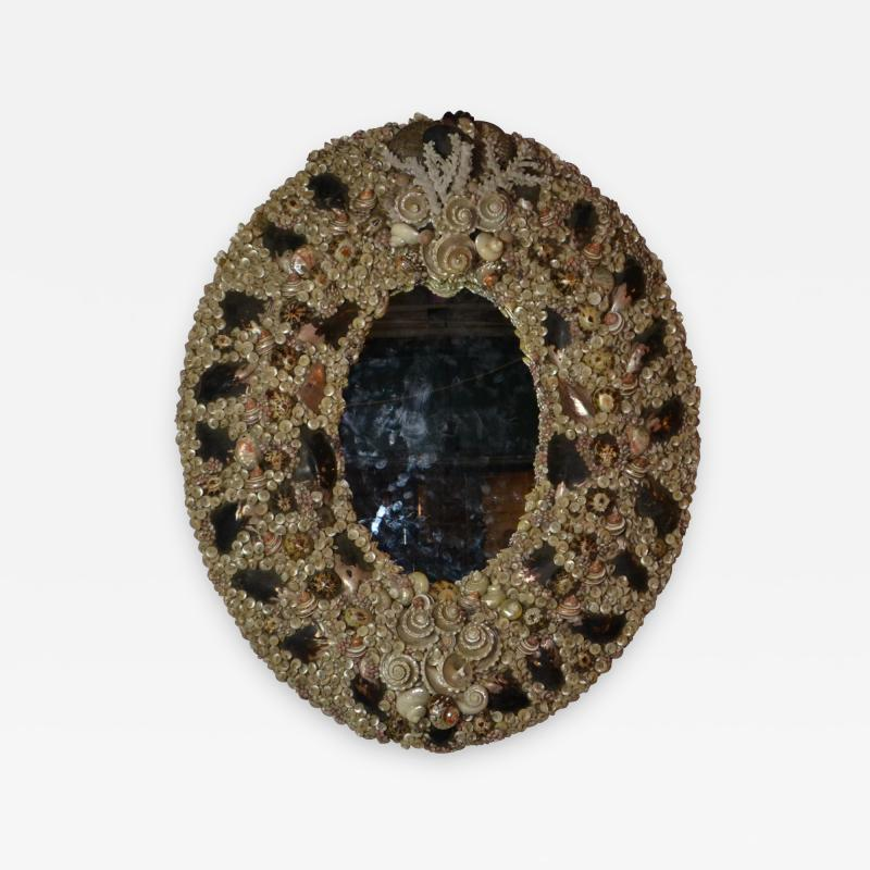Large Size Shell Mirror