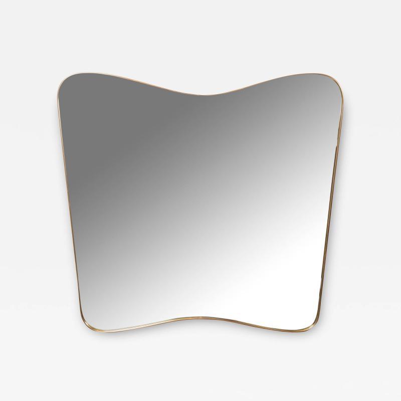 Large Vintage Italian Design Brass Butterfly Shaped Mirror