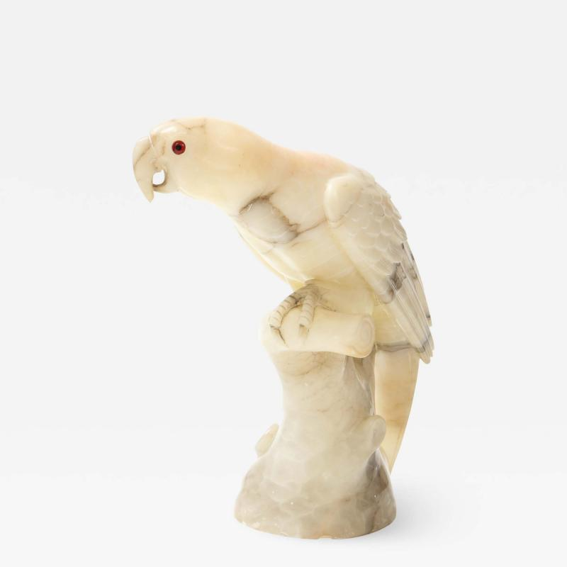 Large carved Alabaster Parrot