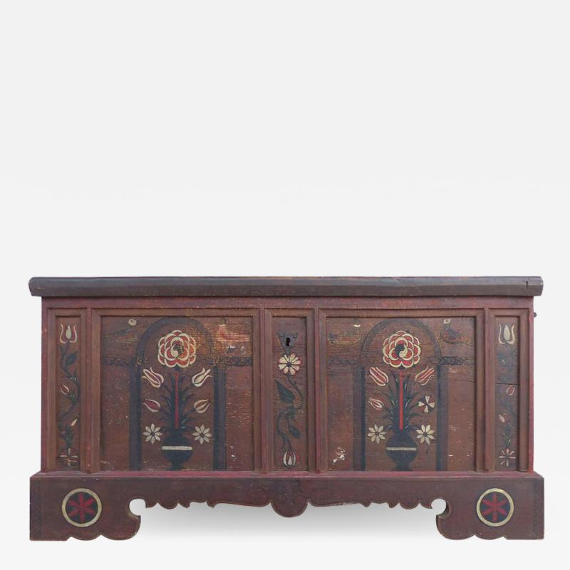 Late 18th Century Hand Painted Bavarian Dowry Chest Dated 1767