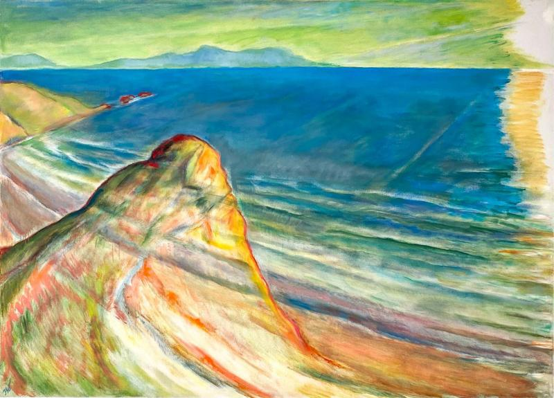 Late 20th Century Vintage California Seascape