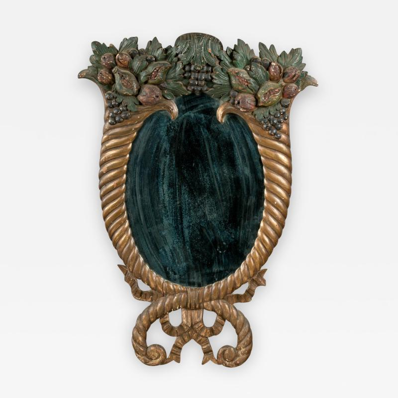 Late Federal Carved Looking Glass