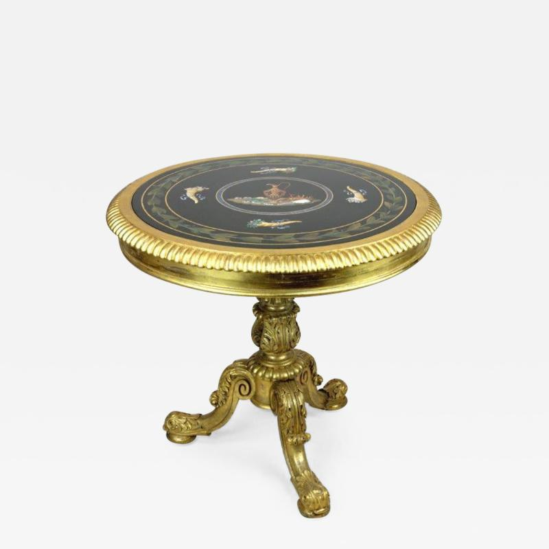 Late Regency gilt wood centre table attributed to Gillows