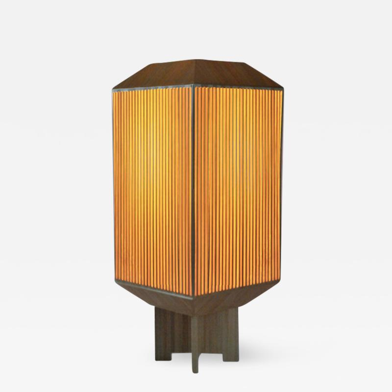 Laura Portarrieu PALEA PL03 Straw marquetry table lamp