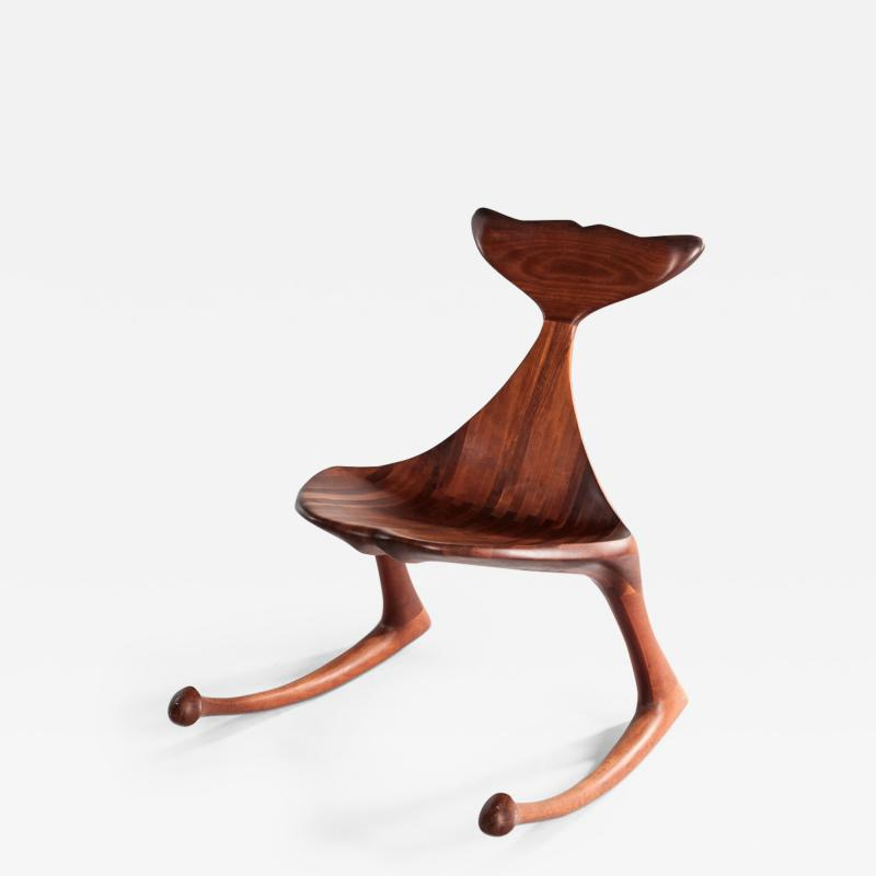 Lawrence B Hunter Rare whale rocker chair
