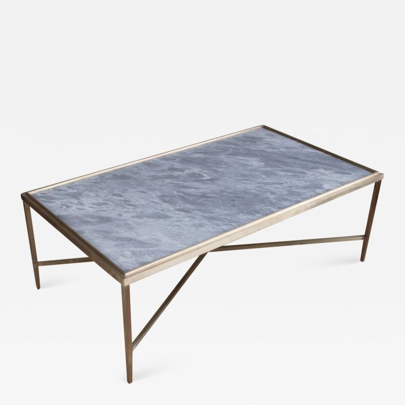 Lawton Mull Daedalus Table in Brass and Stone by Lawton Mull