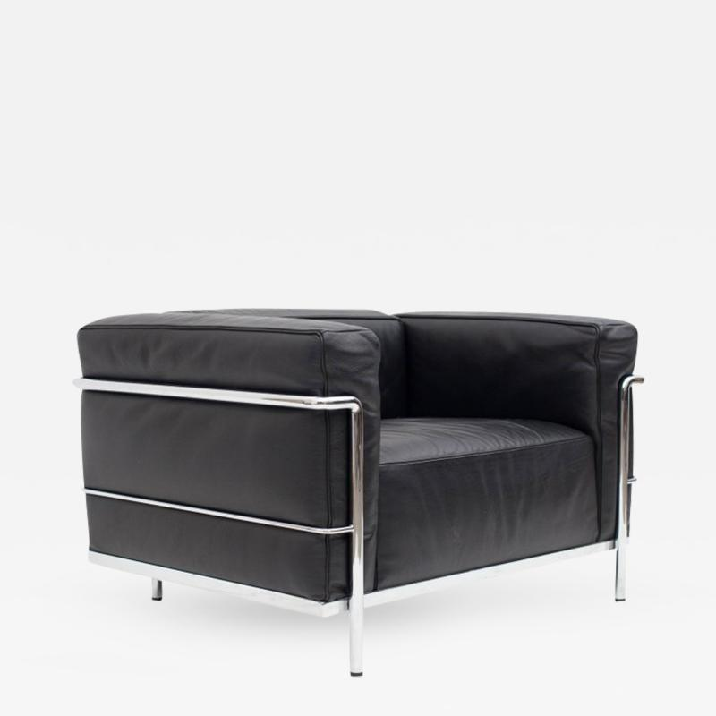 Le Corbusier Jeanneret Perriand Le Corbusier LC3 Poltrona Lounge Chair Black