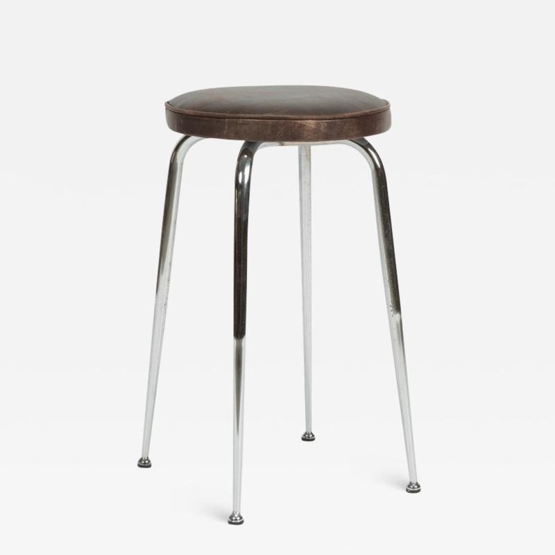 Leather stool Switzerland 1950s
