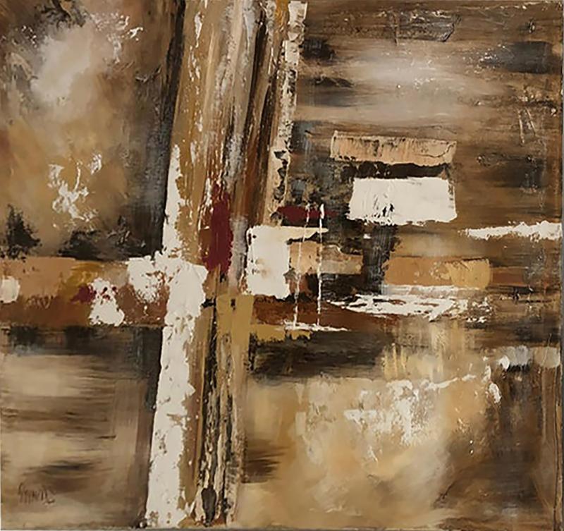 Lee Reynolds Lee Reynolds Large Abstract Painting Vanguard Studio