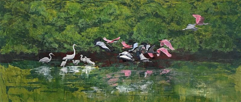 Legend of Mother Ibis Painting by Paulo Jiminez