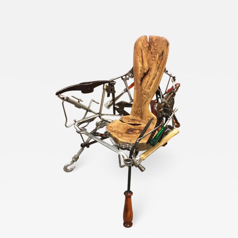 Leo Capote Contemporary Chair Ferramenta Tool by Brazilian Designer Leo Capote