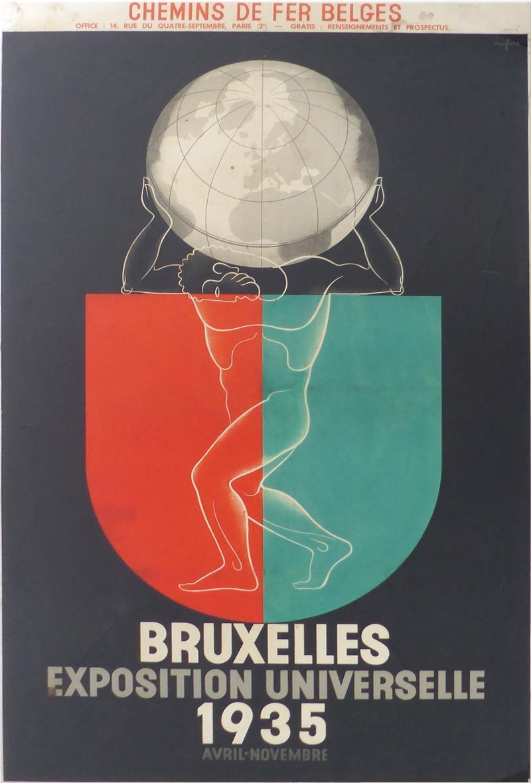 Leo Marfurt 1935 Leo Marfurt Bruxelles Exposition Poster