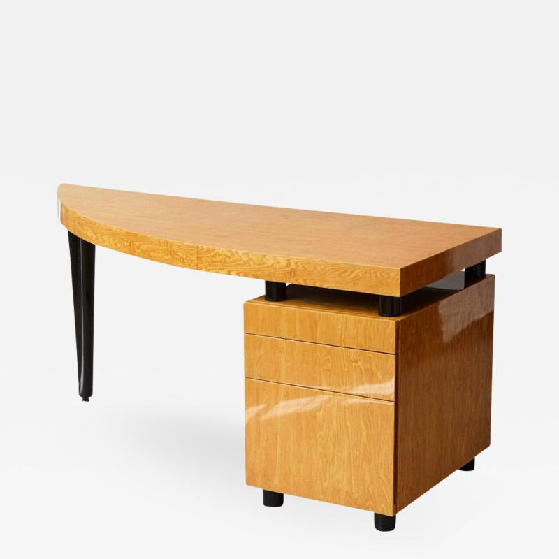 Leon Rosen Triangular Memphis Style Inspired Lacquered Boca Desk by Leon Rosen for Pace