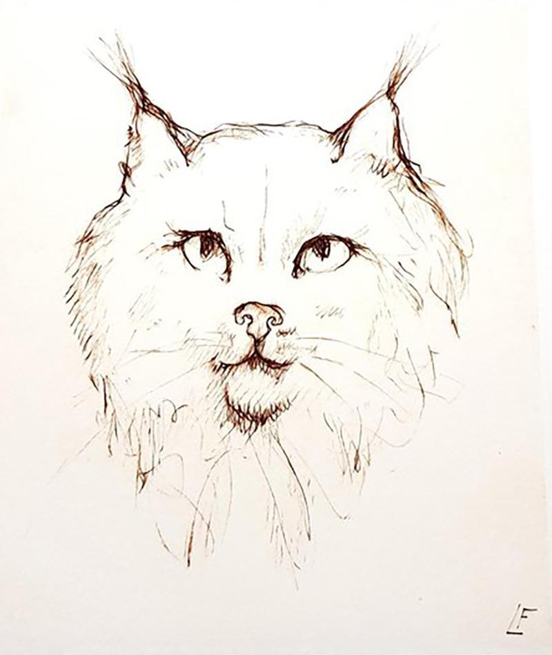 Leonor Fini Leonor Fini Cat Original Etching 1985