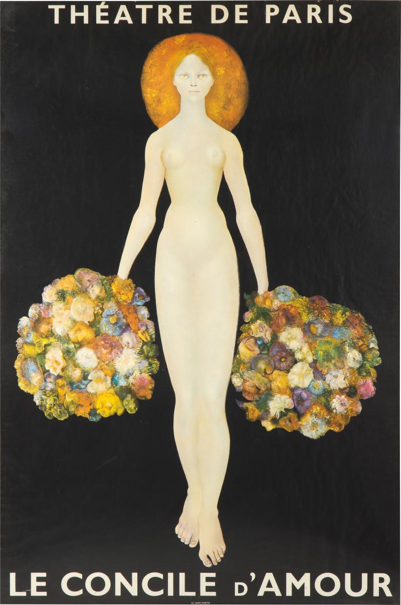 Leonor Fini Poster of Theatre De Paris Le Concile dAmour after Leonor Fini