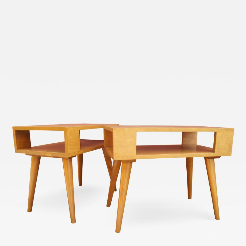 Leslie Diamond Pair of Modernmates End Tables by Leslie Diamond for Conant Ball