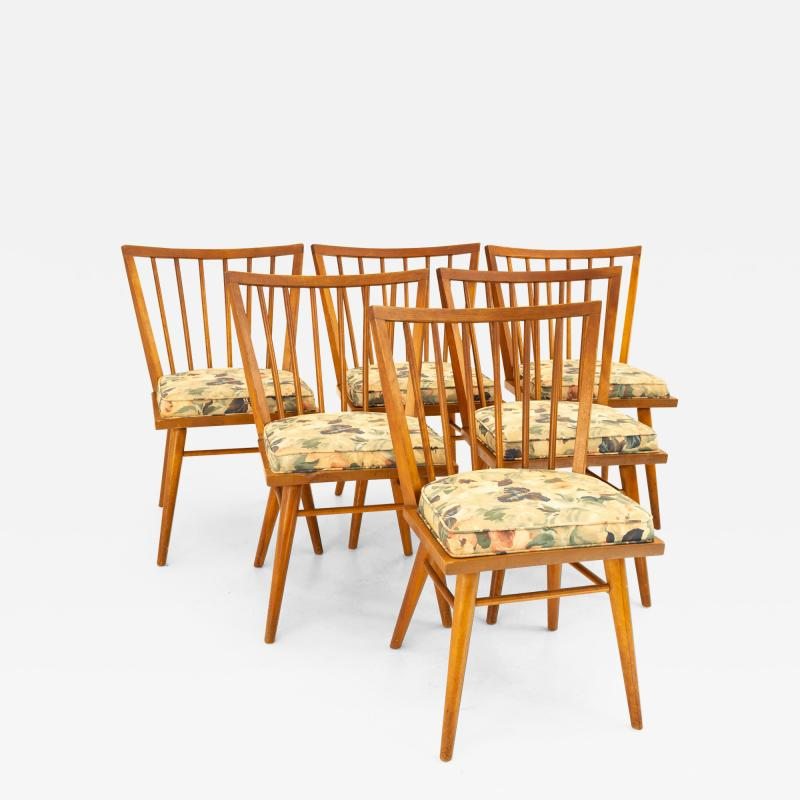 Leslie Diamond for Conant Ball Mid Century Dining Side Chairs Set of 6
