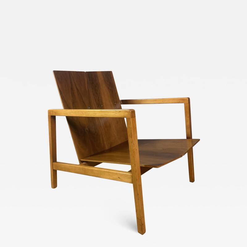 Lewis Butler Lewis Butler 645 Walnut Birch Lounge Chair Knoll USA