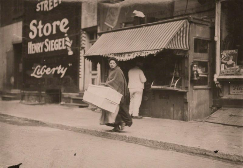 Lewis Wickes Hine A Mother Carrying Flowers Home New York City New York 1912