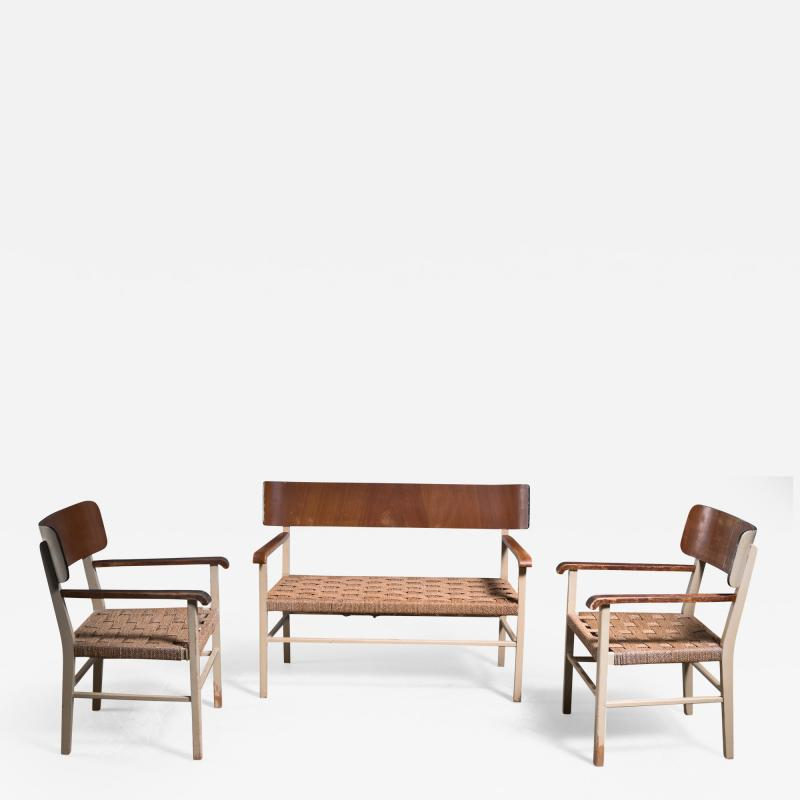Light and transparent Scandinavian Modern sofa set