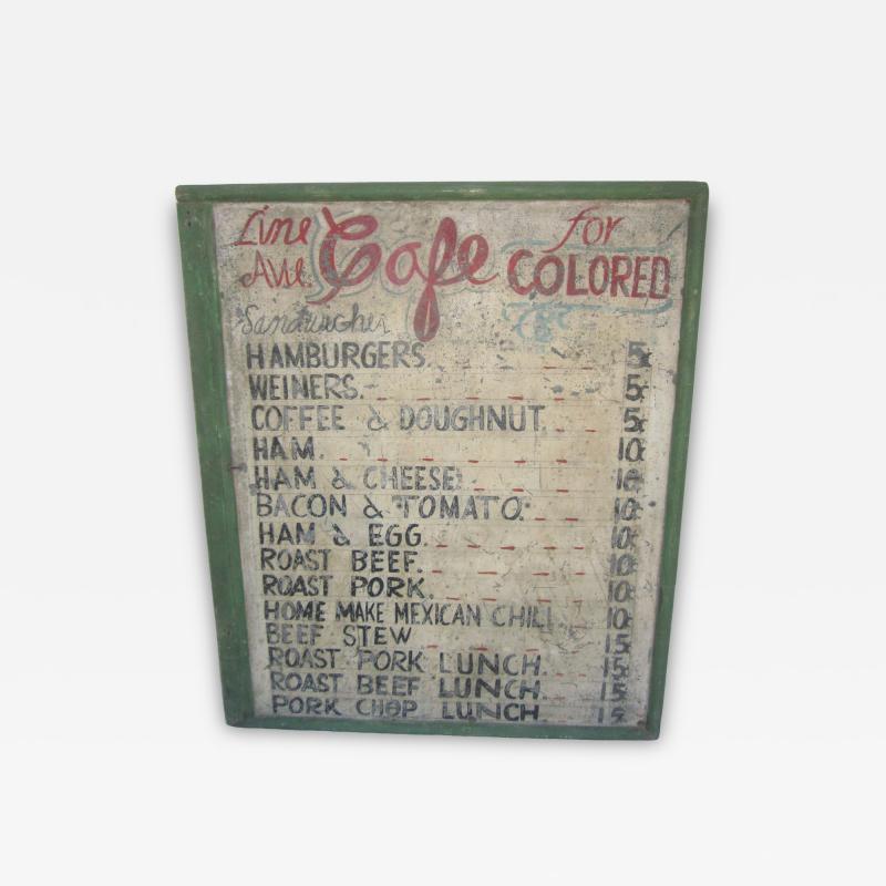 Line Avenue Cafe Sign