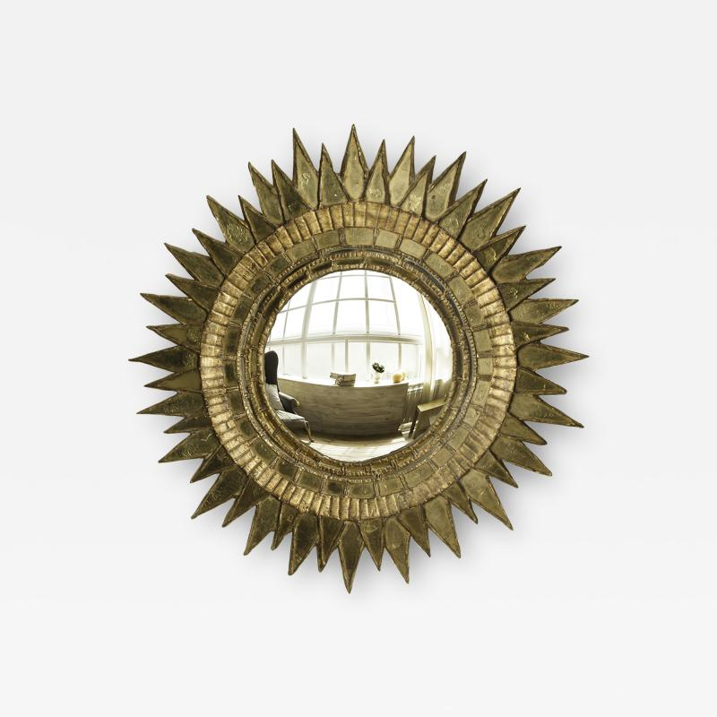 Line Vautrin A Soleil pointes style mirror in the manner of Line Vautrin