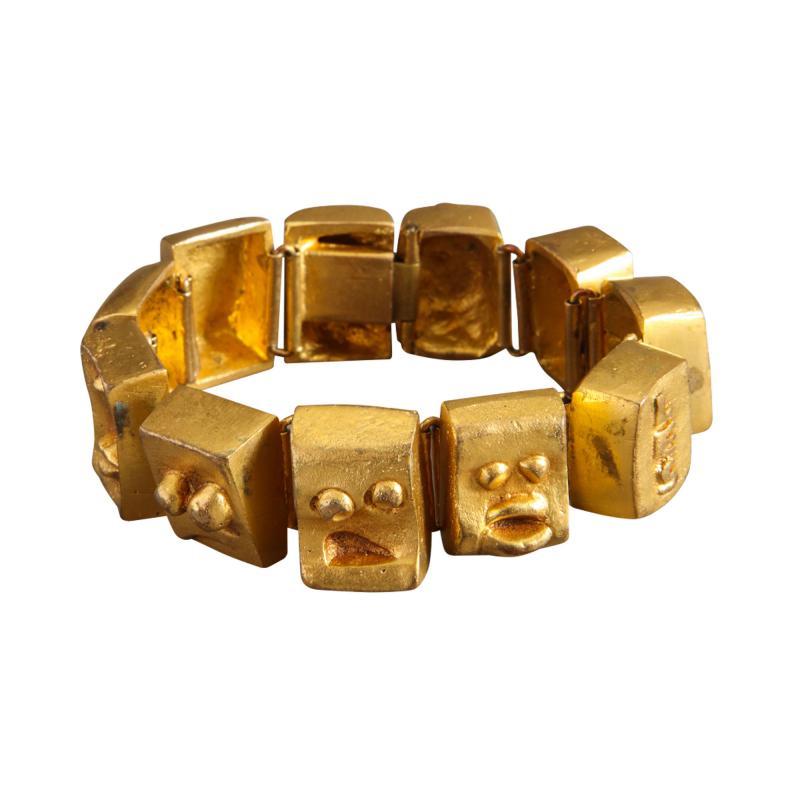 Line Vautrin Ebony cuff and bracelet