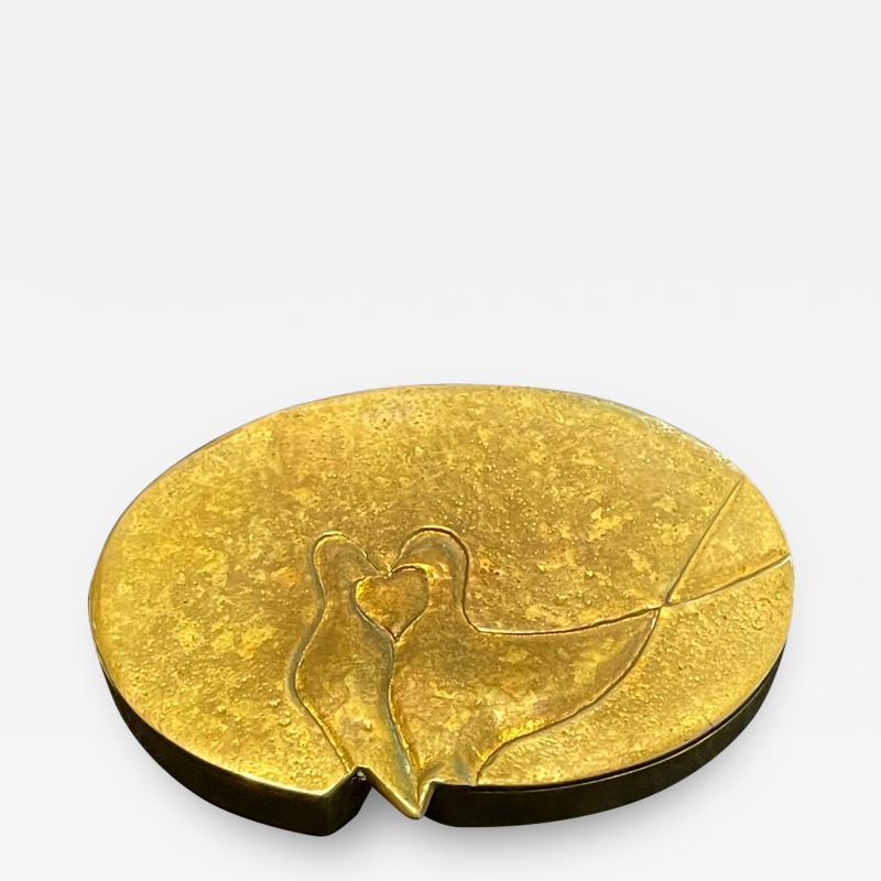 Line Vautrin French Sculptured Gilt Bronze Box Line Vautrin