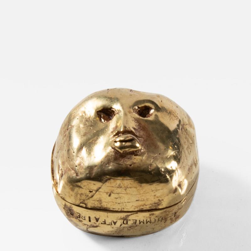 Line Vautrin Gilded bronze box Lhomme daffaires