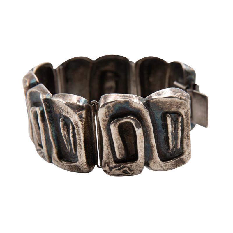 Line Vautrin Line Vautrin France Icare Silvered Bronze Band Bracelet