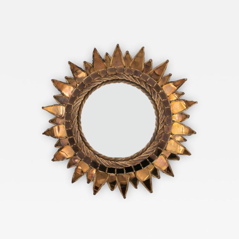 Line Vautrin Line Vautrin French Mirror Soleil A Pointes Dark Bronze Incrusted Mirrors
