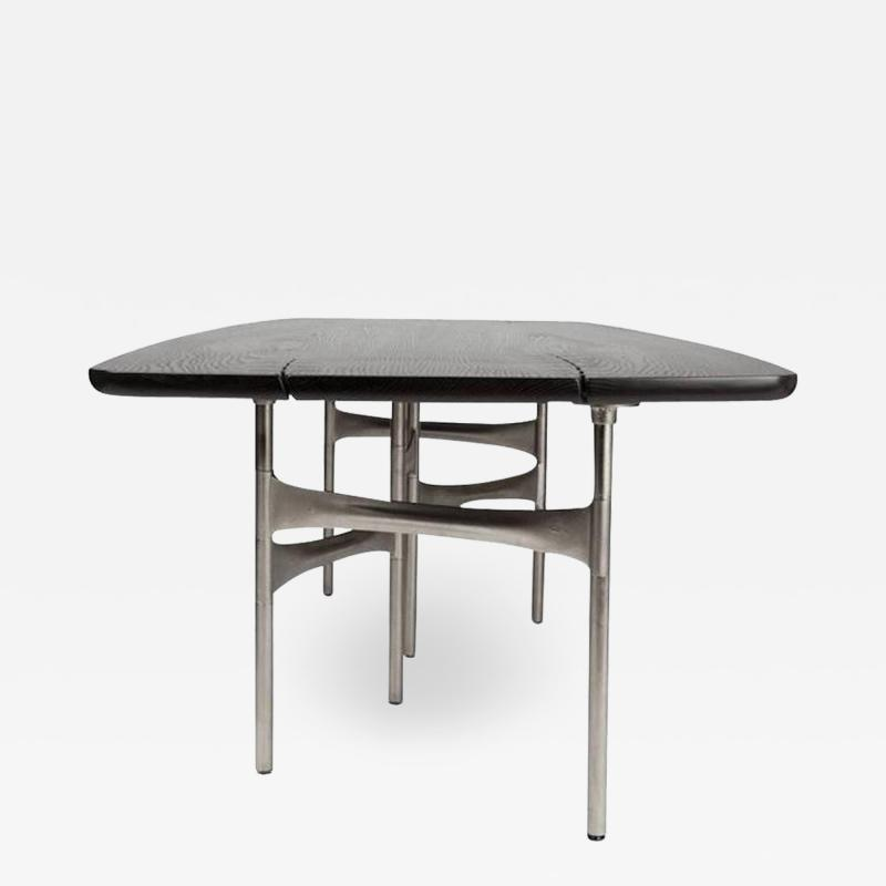 Link Dining Table Wood and Steel by AKMD Collection