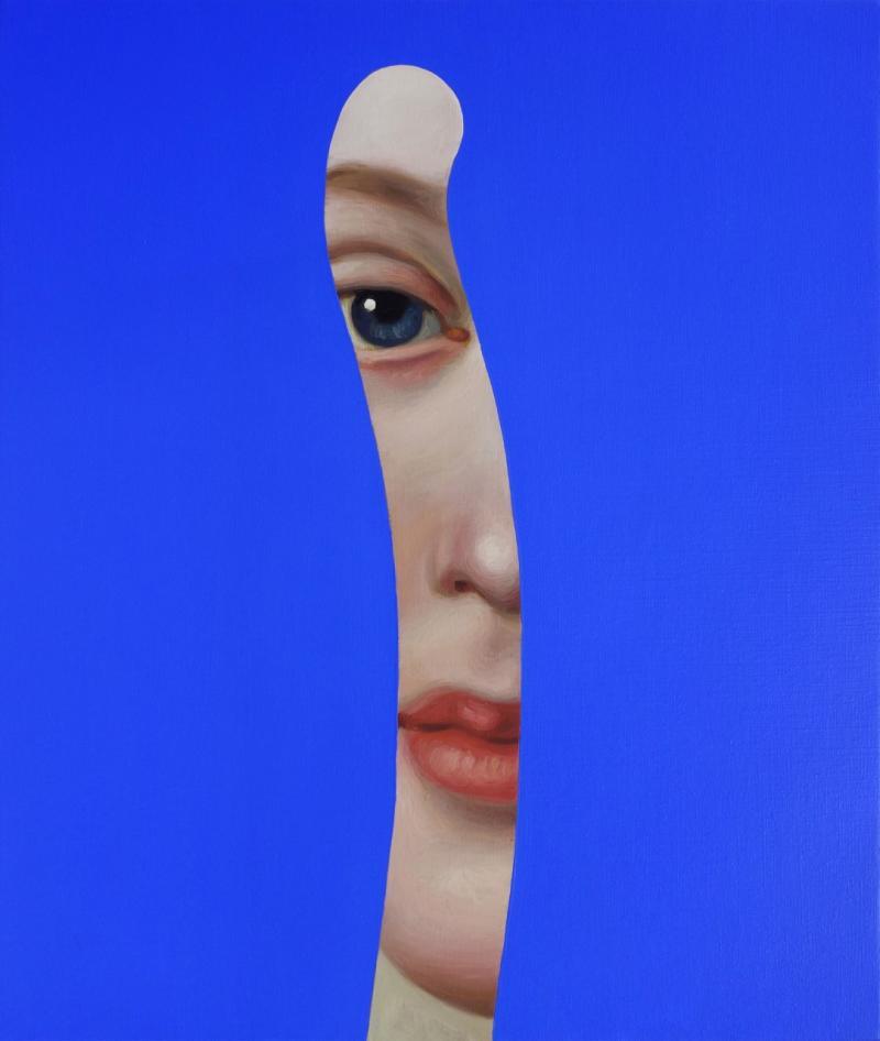 Lino Lago Fake Abstract Blue on P A Rotari
