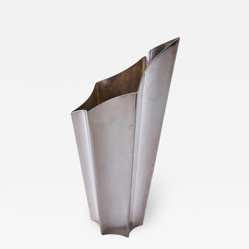 Lino Sabattini Alaska Silver Plated Vase by Lino Sabattini for Sabattini