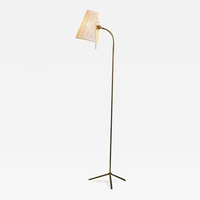Lisa Johansson Pape Lisa Johansson Pape Brass Floor Lamp for Orno Finland 1950s