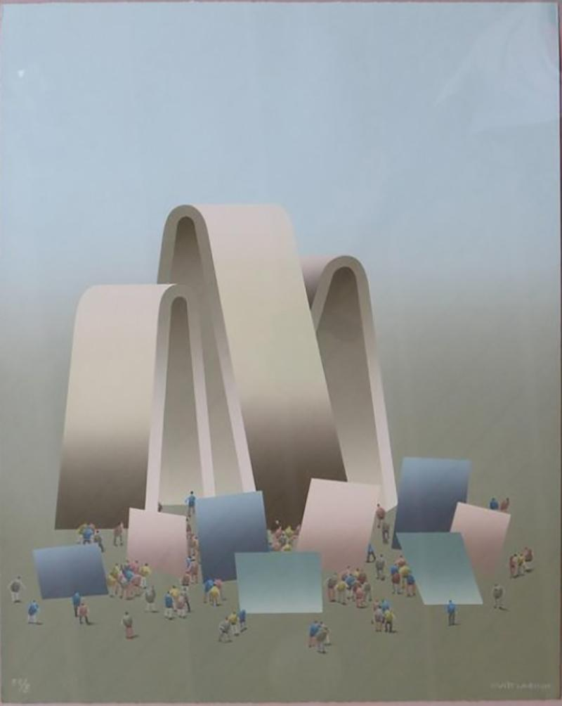 Lithograph by Kurt Larisch