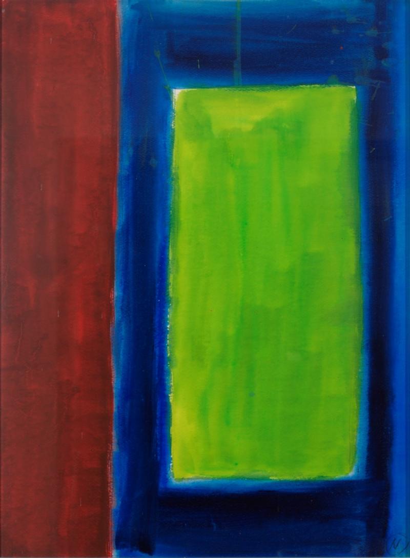 Lloyd Raymond Ney Green Colorfield