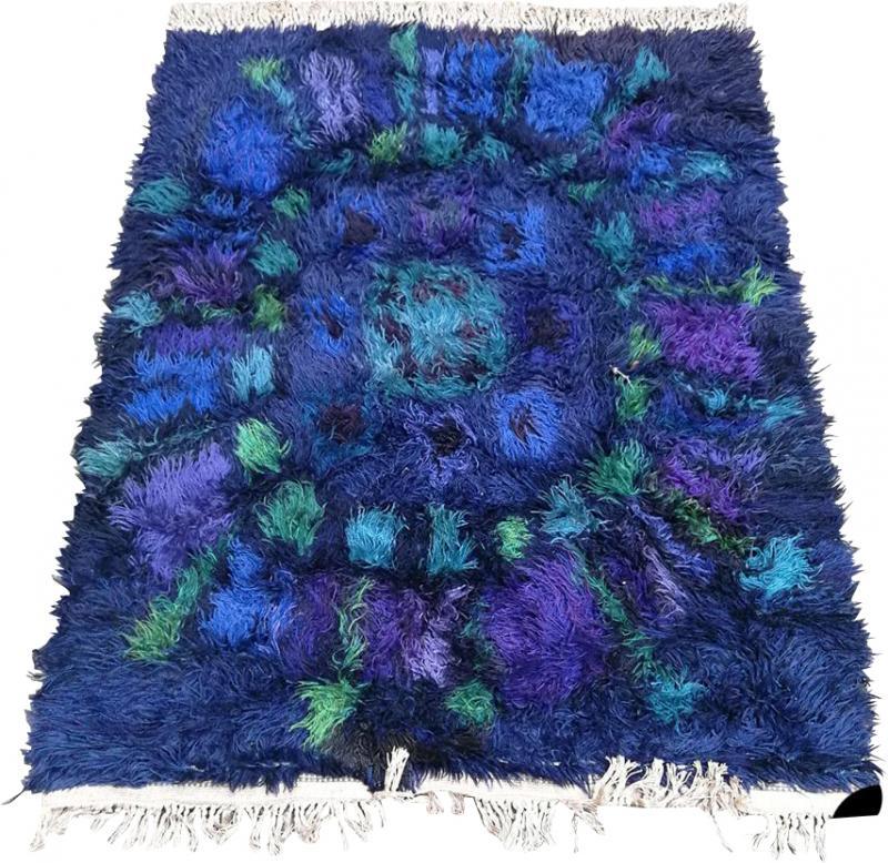 Long pile wool carpet 1970s