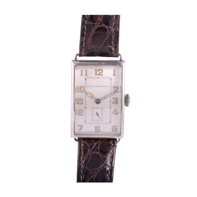 Longines for Black Starr Frost Art Deco Wrist Watch