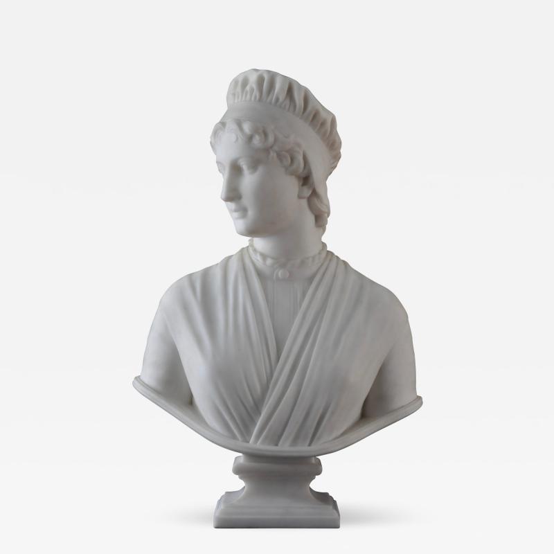 Longworth Powers Marble of Priscilla