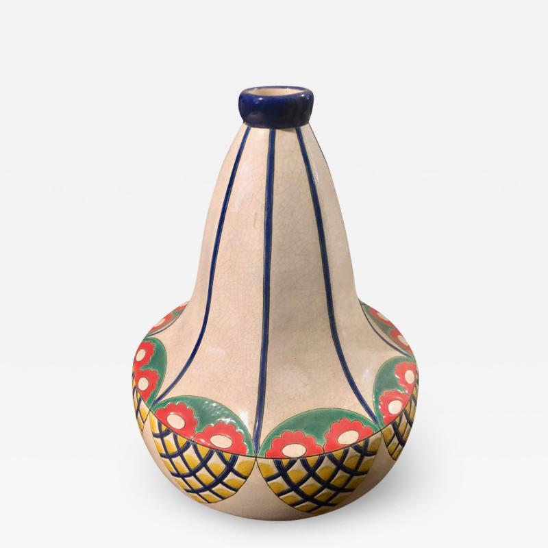 Longwy Longwy Cloisonn Art Deco Vase