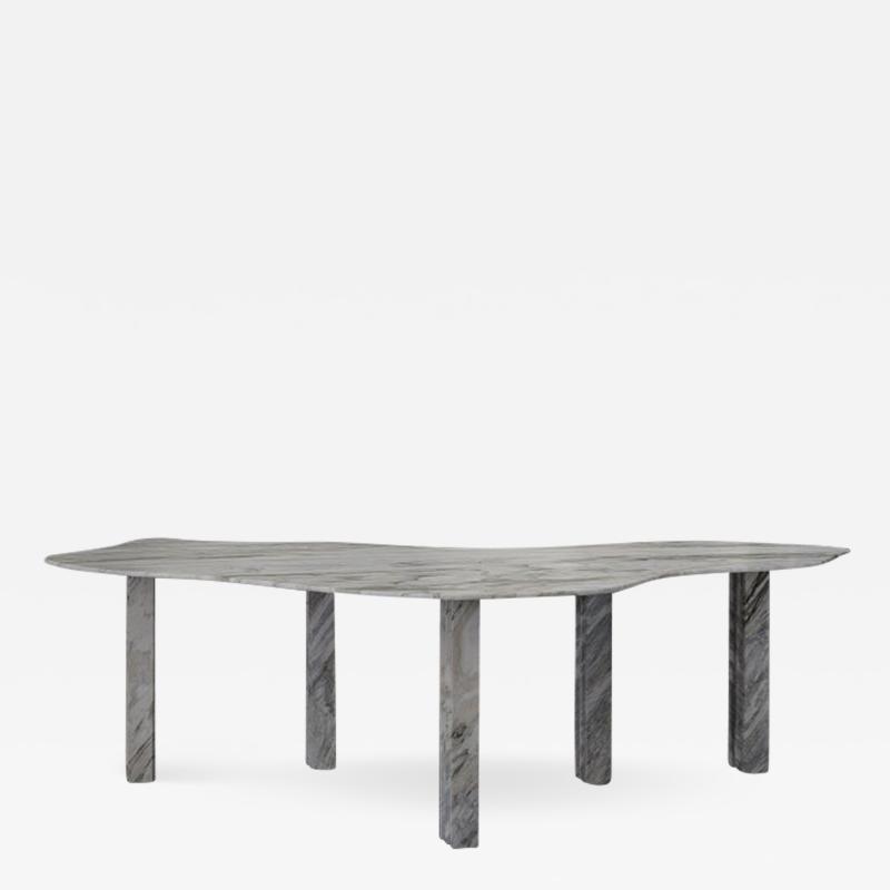 Lorenzo Bini Bicolor Sculptural Marble Table Lorenzo Bini