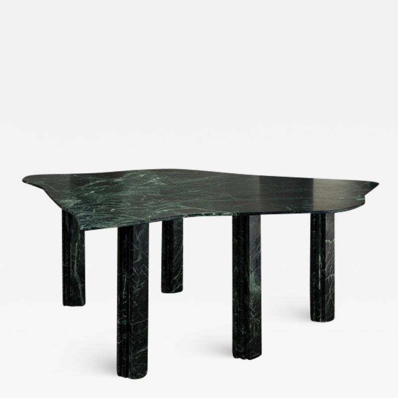 Lorenzo Bini Sculptural Green Marble Table Lorenzo Bini