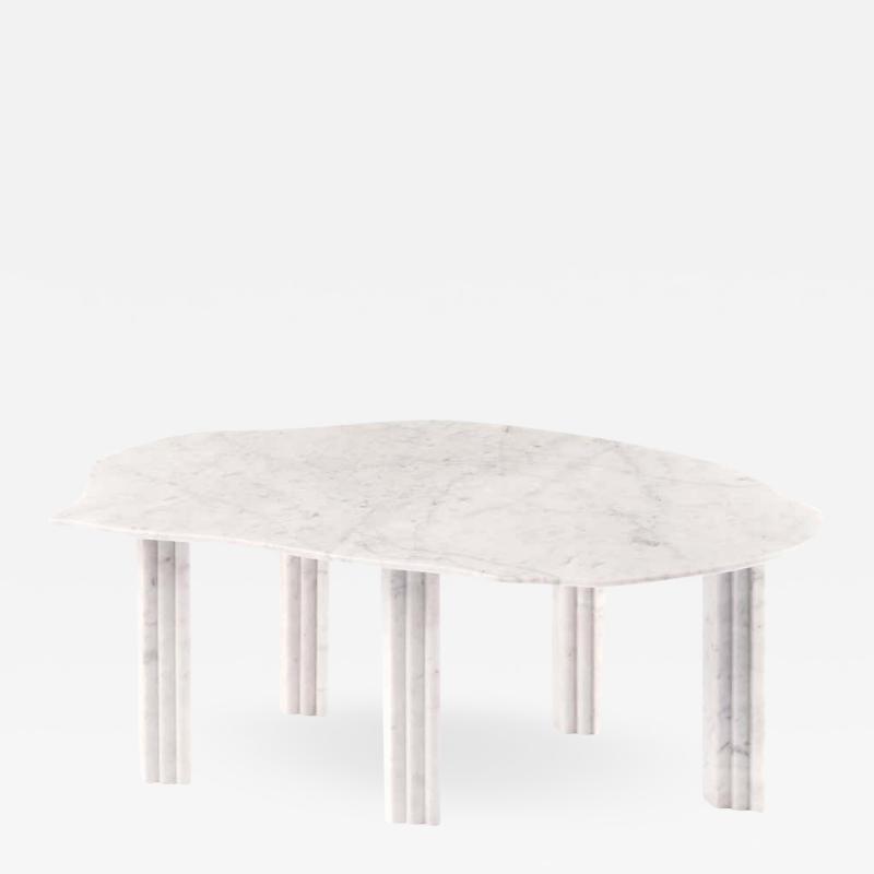 Lorenzo Bini Sculptural White Marble Coffee Table Lorenzo Bini