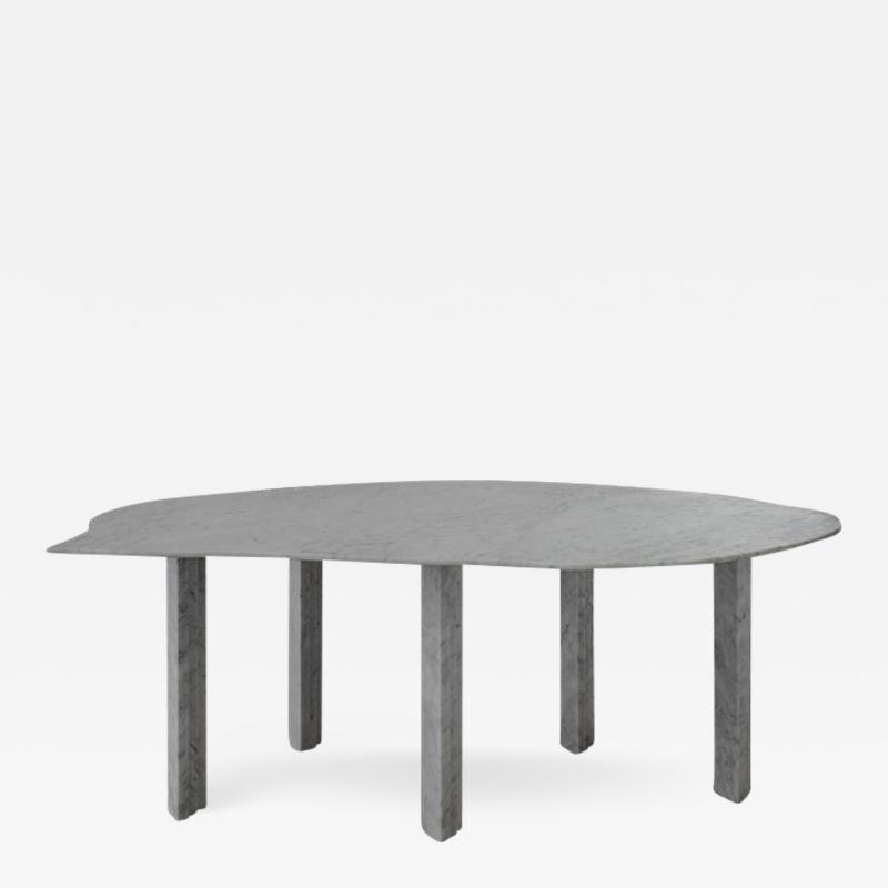 Lorenzo Bini Sculptural White Marble Table Lorenzo Bini