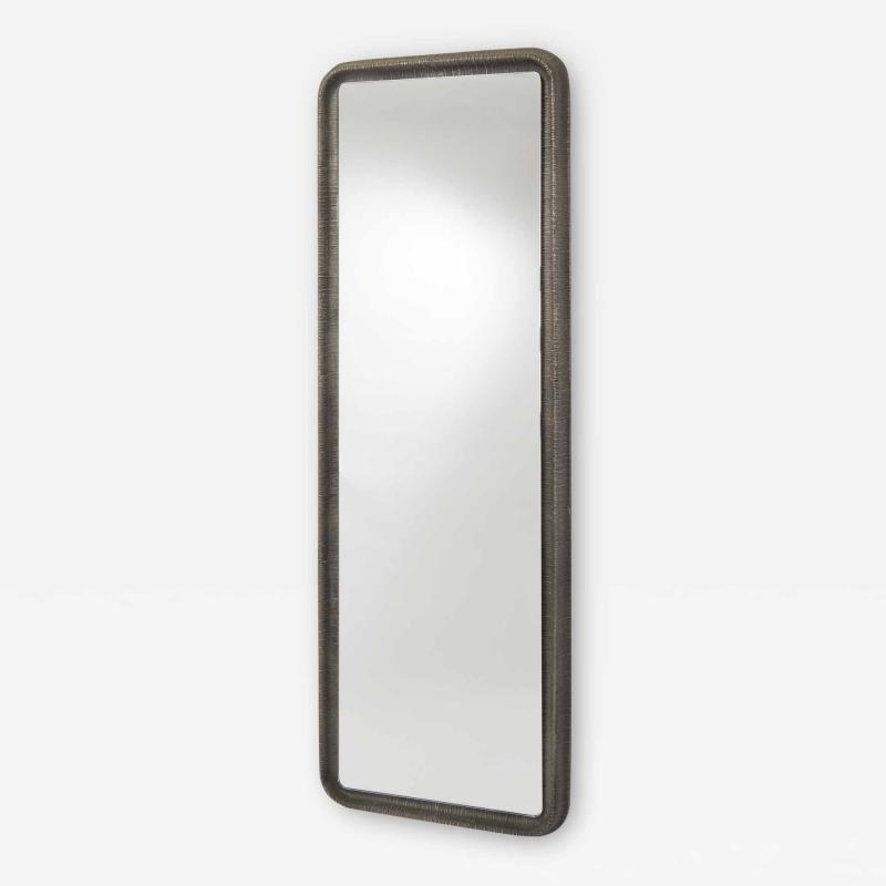 Lorenzo Burchiellaro Lorenzo Burchiellaro Tall Cast Aluminium Mirror Italy 1970s