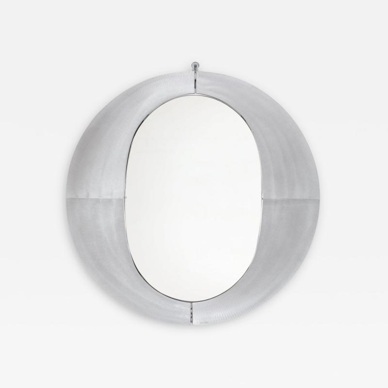 Lorenzo Burchiellaro Sculptural Aluminum Framed Mirror by Artist Lorenzo Burchiellaro